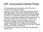 uip uncovered interest parity4