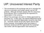 uip uncovered interest parity7