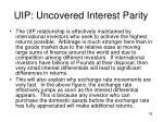 uip uncovered interest parity8