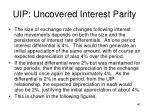 uip uncovered interest parity9