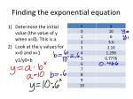 finding the exponential equation