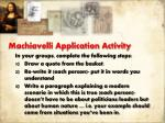 machiavelli application activity
