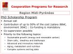 cooperation programs for research