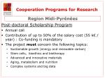 cooperation programs for research1