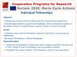 cooperation programs for research11