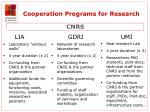 cooperation programs for research7