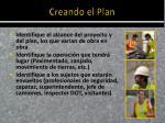 creando el plan