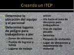 creando un itcp