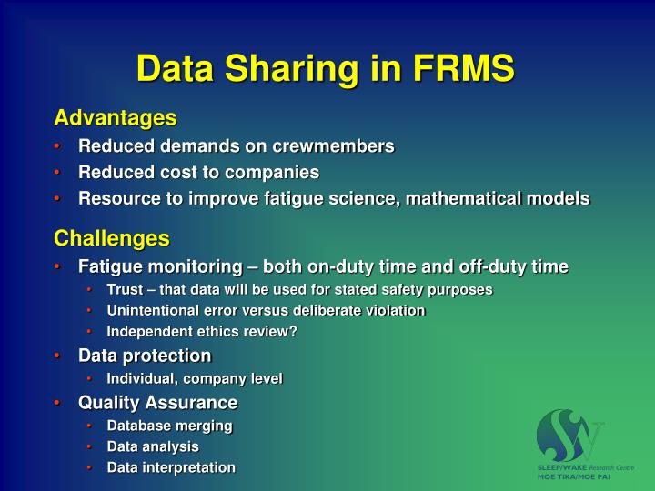 data sharing in frms n.
