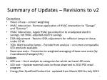 summary of updates revisions to v2