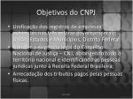 objetivos do cnpj