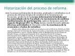 historizaci n del proceso de reforma