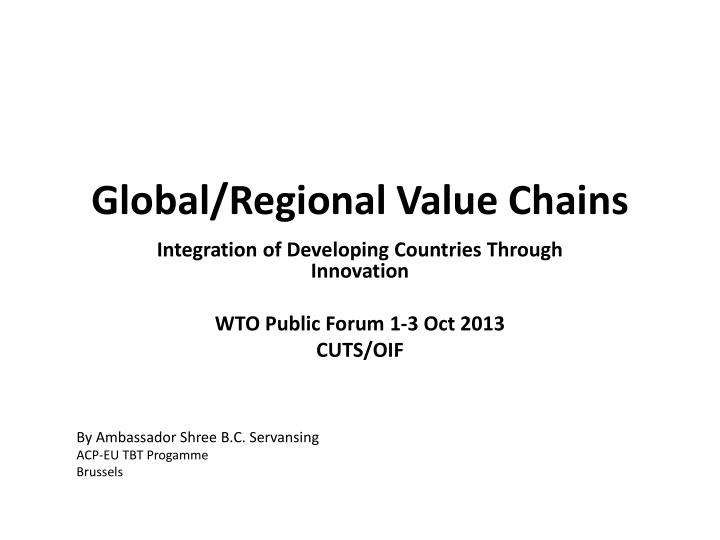 global regional value chains n.