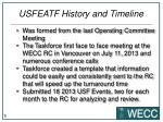 usfeatf history and timeline