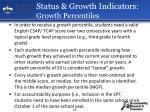 status growth indicators growth percentiles