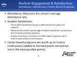 student engagement satisfaction attendance satisfaction center based programs