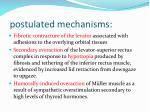 postulated mechanisms