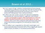 bowen et al 2012