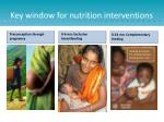 key window for nutrition interventions