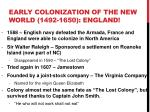 early colonization of the new world 1492 1650 england