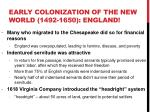 early colonization of the new world 1492 1650 england2