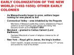 early colonization of the new world 1492 1650 other early colonies