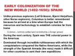 early colonization of the new world 1492 1650 spain1