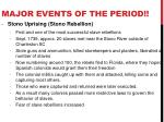 major events of the period2