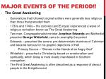 major events of the period4