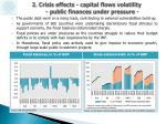 2 crisis effects capital flows volatility public finances under pressure