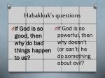 habakkuk s questions