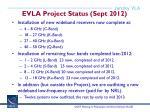 evla project status sept 2012