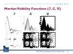martian visibility functions i q u