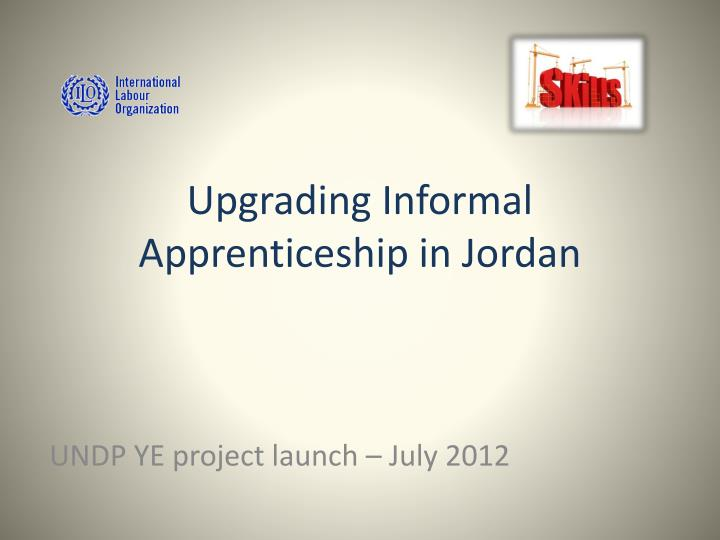 upgrading informal apprenticeship in jordan n.