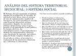 an lisis del sistema territorial municipal 3 sistema social