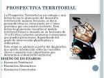 prospectiva territorial