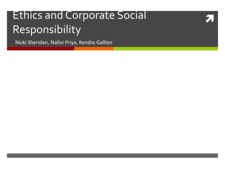 ethics and corporate social responsibility n.