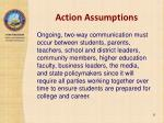 action assumptions