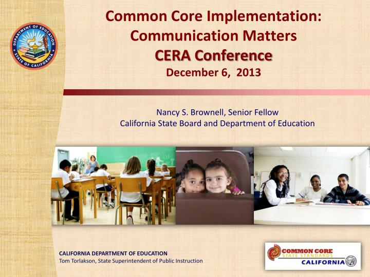 common core implementation communication matters cera conference december 6 2013 n.
