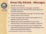 great city schools messages