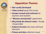 opposition themes