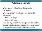 adequate growth1