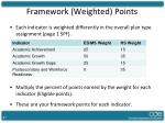 framework weighted points