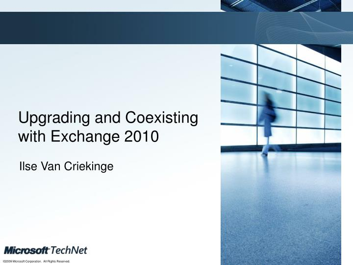 upgrading and coexisting with exchange 2010 n.