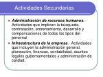 actividades secundarias1