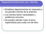 departamentalizaci n por clientes