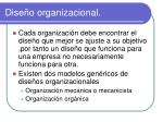 dise o organizacional1