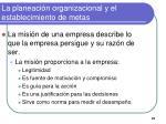 la planeaci n organizacional y el establecimiento de metas8