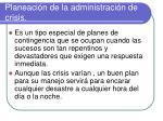 planeaci n de la administraci n de crisis