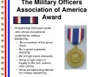 the military officers association of america award
